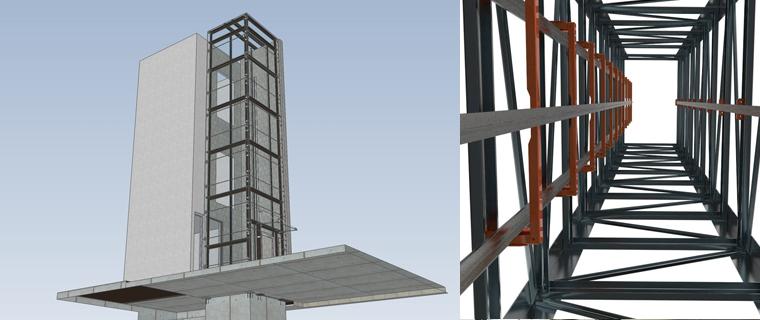 هياكل معدنية inner sliders steel